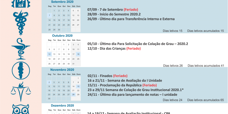 Calendário Acadêmico 2020.2